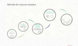 Método de razones simples