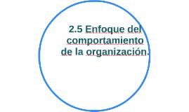2.5 Enfoque del comportamiento de la organización.