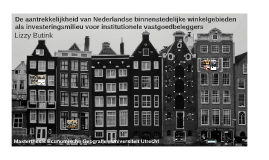 Copy of Attractiveness of Dutch inner-cities as real estate investme