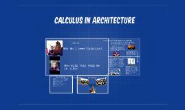 Calculus in Architecture