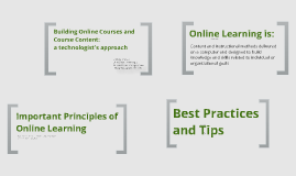 Building Online Courses and Course Content