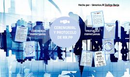 Ceremonial y prtocolo de RR.PP