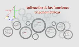 Aplicacion de las funciones trigonometricas