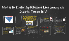 What is the relationship between a token economy and student