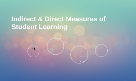 Indirect & Direct Measures of Student Learning
