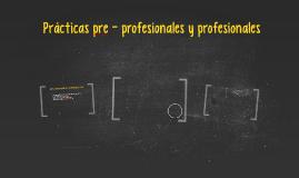 Prácticas pre - profesionales y profesionales