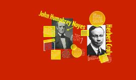 John Humphrey Noyes and Herbert Croly