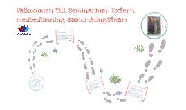 Presentation av seminarium om extern medbedömning av samordningsteamen 130211