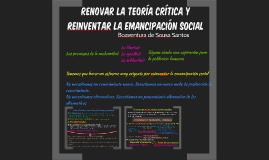 Renovar la teoría crítica y reinventar la emancipación socia