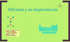 QUIMICA ESPECIFICA LOS SILICATOS