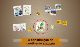 A constituição do continente europeu