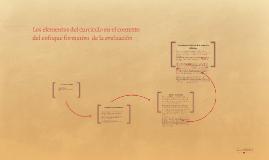 Los elementos del curriculo en el contexto del enfoque forma