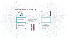 The electrolysis of Brine