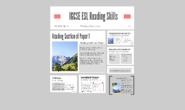 IGCSE ESL Reading Skills