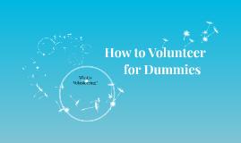 How to Vounteer