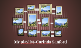 My playlist-Corinda Sanford