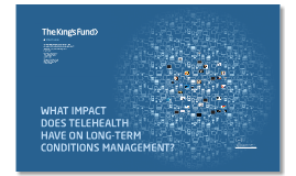 What impact does telehealth have on long-term conditions management?