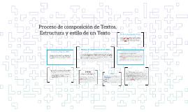 Proceso de composición de Textos,