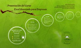 Copy of Presentación del Curso Excel Avanzado para Empresas