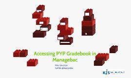 Accessing Gradebook in MB