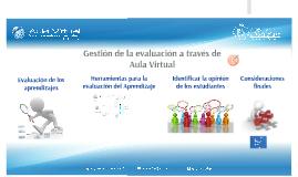 Gestión de la evaluación a través de Aula Virtual  (Docente)