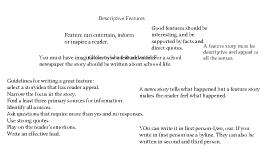 Chapter 8: Descriptive Features