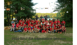 2016-2017 RA Information Session