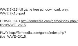 WWE 2K15 full game free pc, download, play. WWE 2K15 ipad
