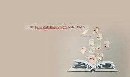Die Gerechtigkeitsgrundsätze nach RAWLS