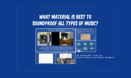 What Material is best to soundproof all types of music