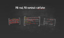Copy of PIB real, PIB nominal e deflator
