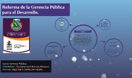 Reforma de la Gerencia Publica para el Desarrollo
