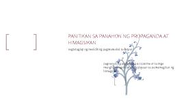 PANITIKAN SA PANAHON NG PROPAGANDA AT HIMAGSIKAN