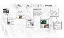 Immigration during the 1920s