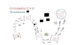 Ecclesiastes 11-12