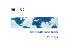 ROC Database Team