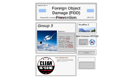 FOreign Object Damage (FOD) Prevention
