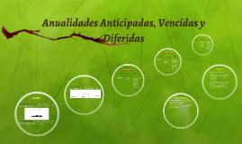 Copy of  Anualidades Anticipadas, Vencidas y Diferidas
