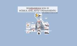 IN MEMORIAM 2014-15