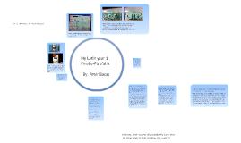 Latin Year 1H e-Portfolio