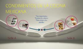 principales condimentos de la comida mexicana