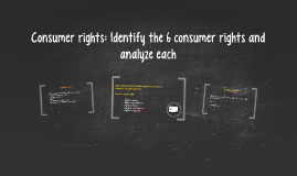 Consumer rights: Identify the difference between rights and