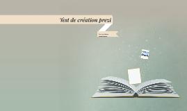 Test de création prezi