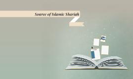 Source of Islamic Shariah