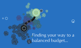 Finding your way to a balanced budget
