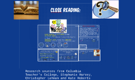 Copy of Close Reading: