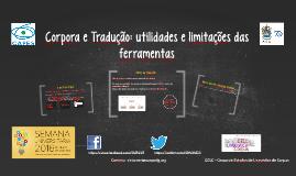 Corpora e Tradução: utilidades e limitações das ferramentas (UNB)