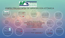 ESPECTOFOTOMETRÍA DE ABSORCIÓN ATÓMICA