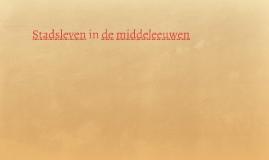 Stadsleven in de middeleeuwen
