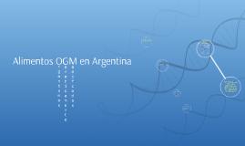 Alimentos OGM en Argentina
